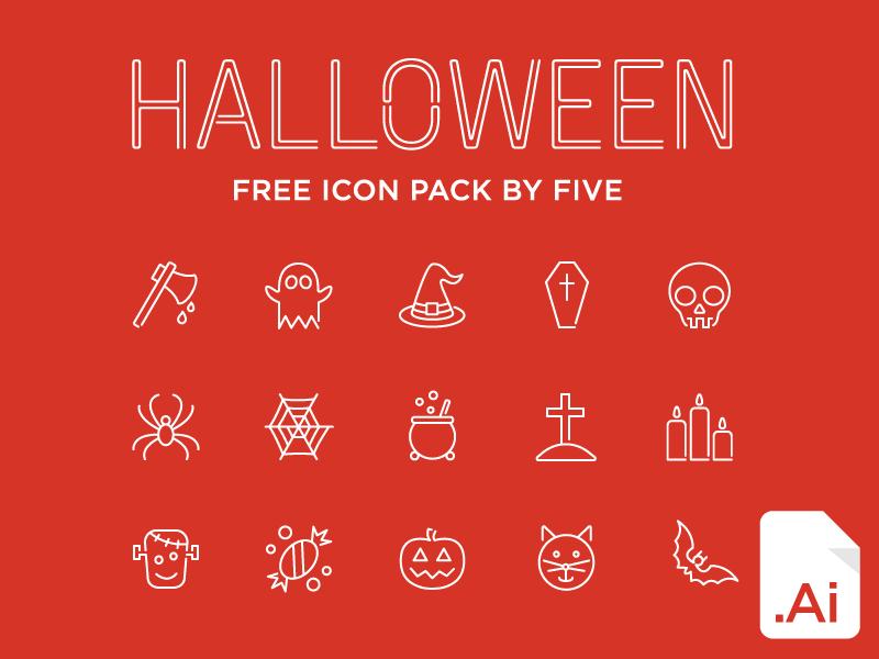 15 Free Halloween Line Icons