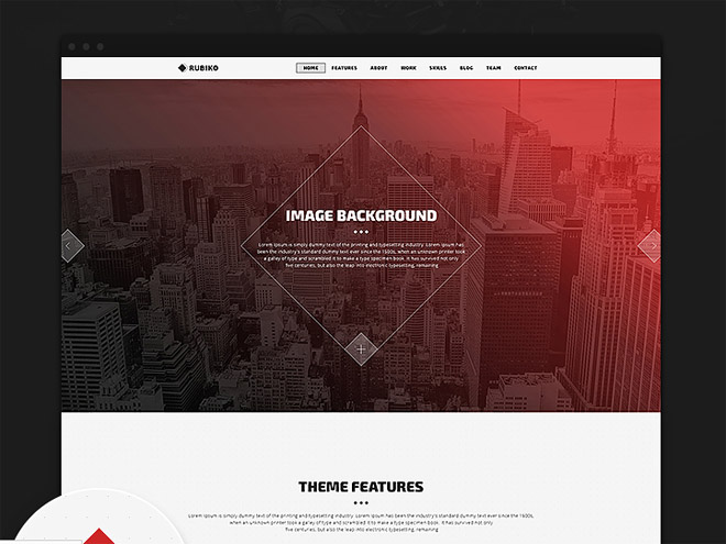 Rubiko : Free Unique One Page PSD Template