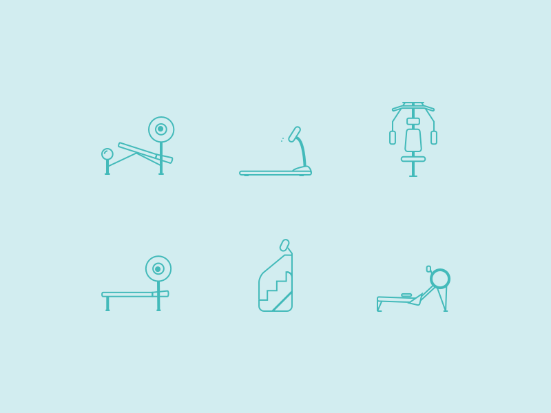 Free Workout Icons (Sketch)