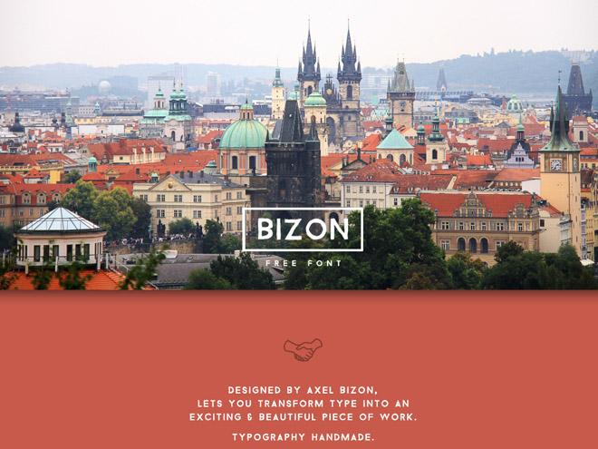 Bizon Free Uppercase Typeface