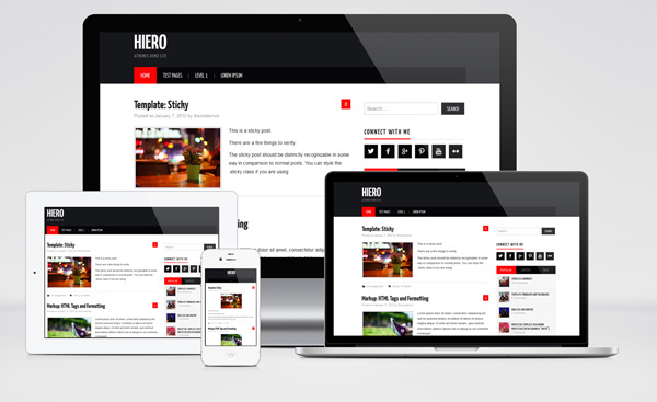 Hiero : Free Responsive Magazine WordPress Theme