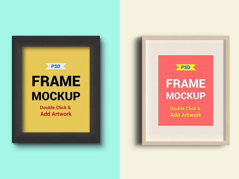 Free Photo Frames Mockups PSD