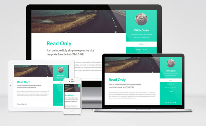 Read Only : Free Responsive HTML5 / CSS3 Template for personal Sites