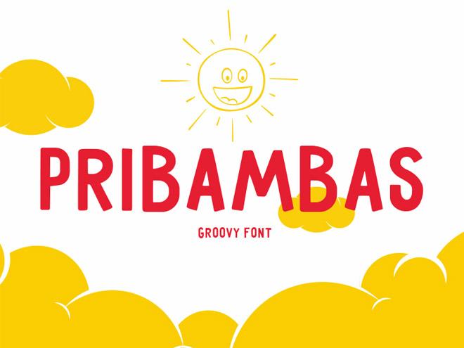 Pribambas – Free Groovy Font