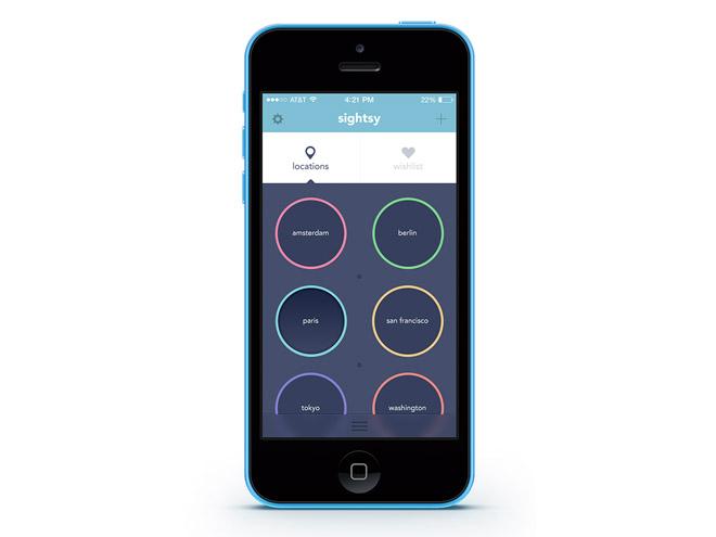 Sightsy Free PSD iOS App Design