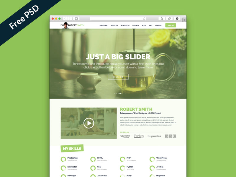 IMX – Free One Page Resume Website Template