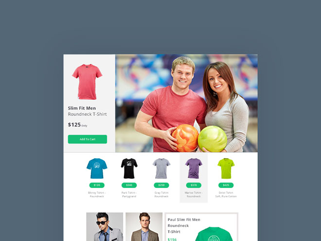 Minimal eCommerce PSD Web Template