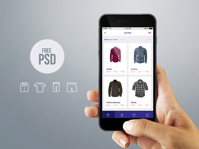 Free Mobile Online Store Design PSD