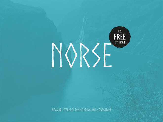 Norse : Free Nordic Style Typeface