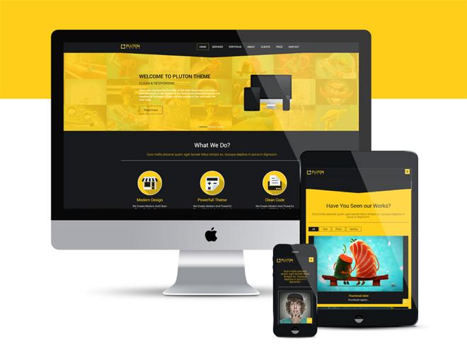 Pluton : Free Modern Bootstrap HTML Template
