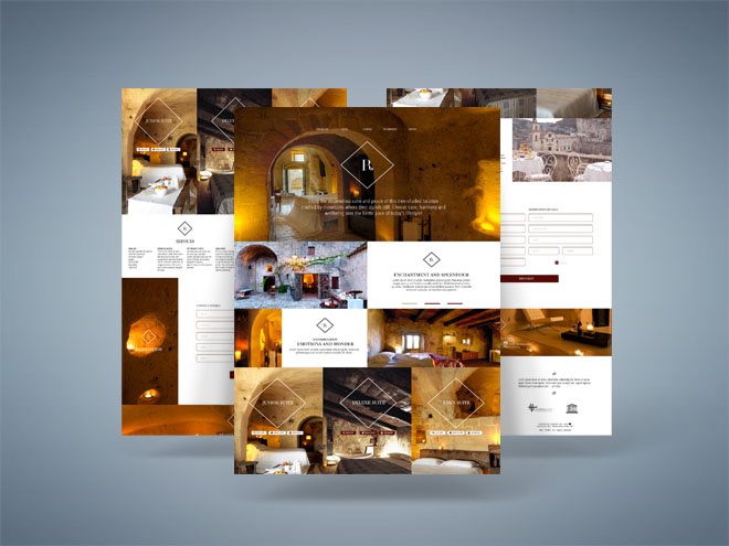 Resort – Free One Page PSD Template For Hotel Website