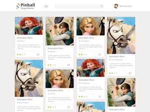 Pinball – Free Portfolio Grid Style PSD Template