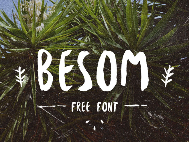 Besom : Free Hand Drawn Brush Font