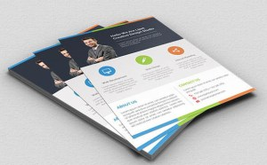 Free Clean Business Flyer PSD