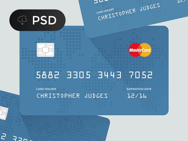 Flat Credit Card PSD