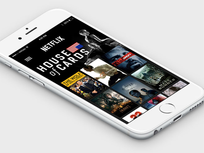 Netflix App Concept PSD for iPhone 6