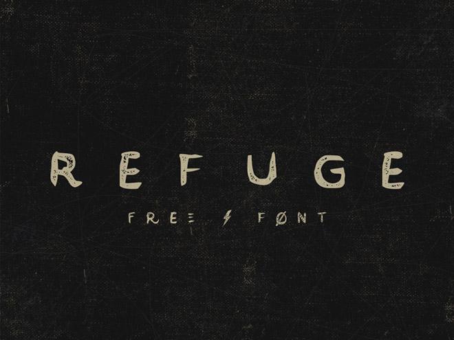 Refuge Free Retro handcrafted typeface