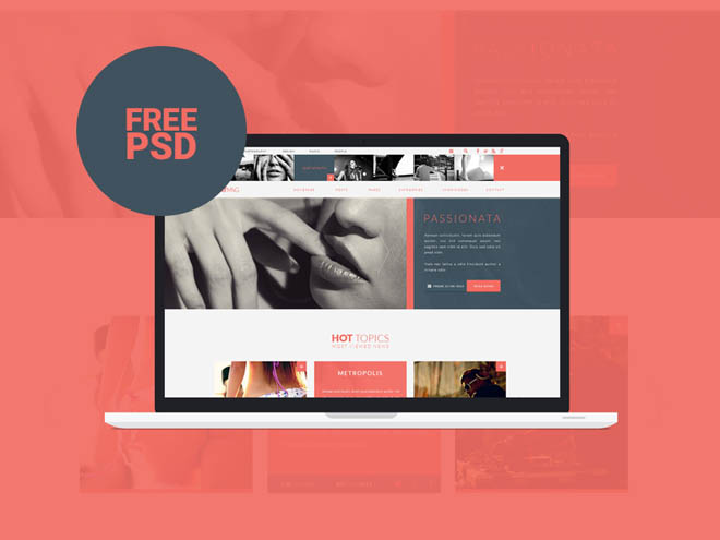 Flatmag : Free Flat Magazine PSD Template