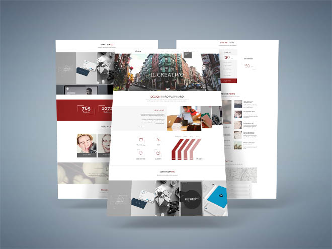 Hooky – creative one page PSD template