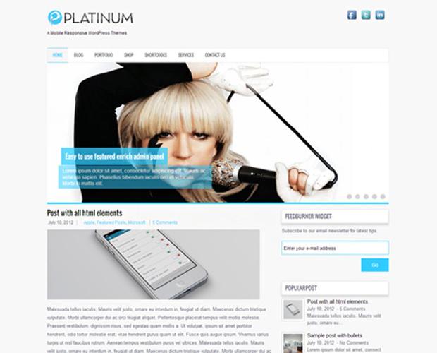 Platinum Free WordPress Theme