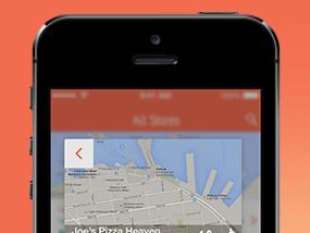Store Finder Apps UI Design PSD