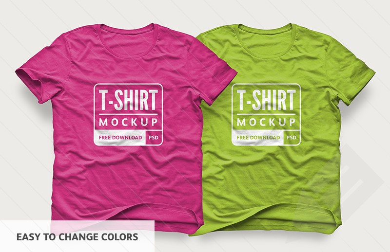 Free T-Shirt PSD Mockup for Clothing Industry