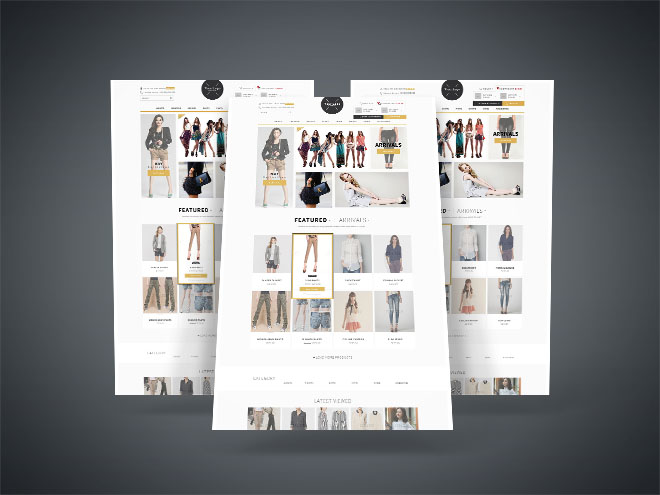 Free Fashion E-commerce PSD Template