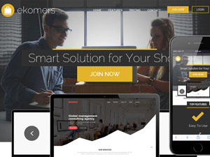 Ekomers : Free Flat Business Bootstrap Template