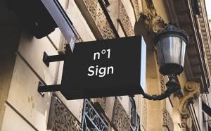 Free Photorealistic Signs Mockup PSD