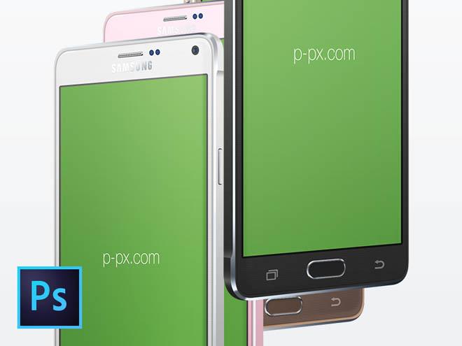 Free Samsung Galaxy Note 4 Mockup psd