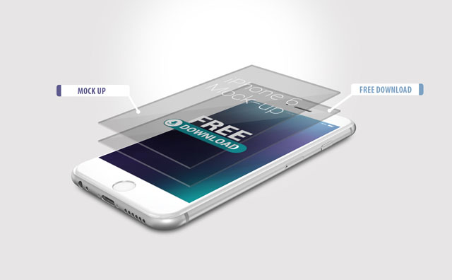 5 Free iPhone 6 Mockups PSD