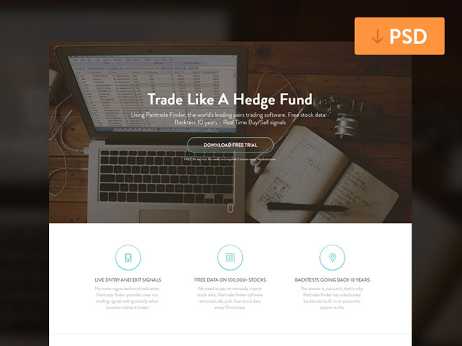 Free PSD Landing Page Template