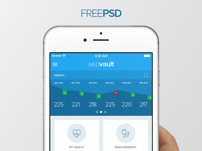 free health app ui design