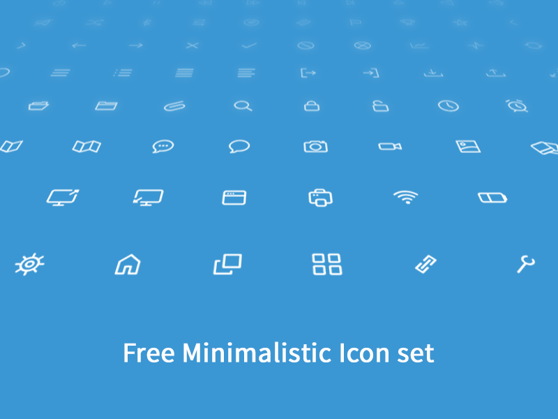 Free Clean and Minimalistic Icon Set