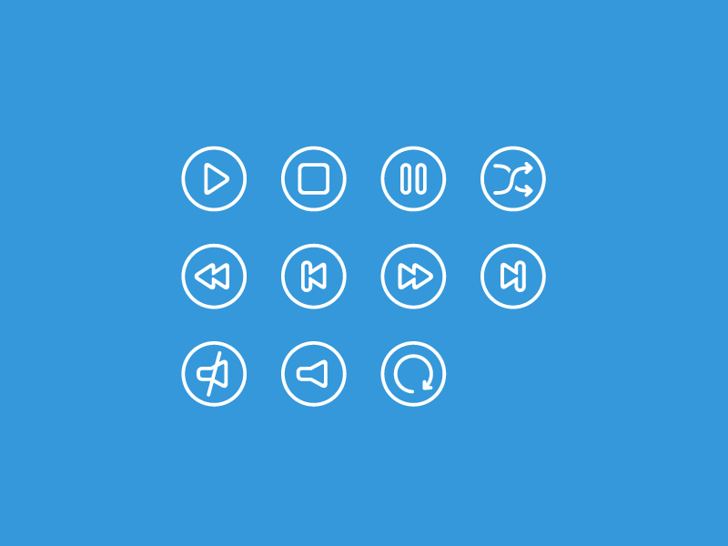 Free Outline Multimedia Icons