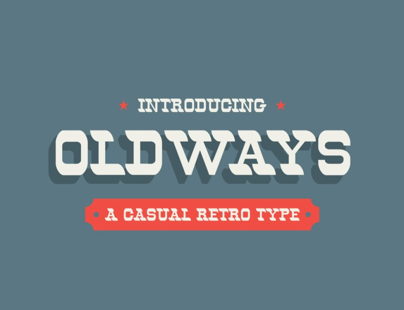 Oldways : Free Casual Retro Font