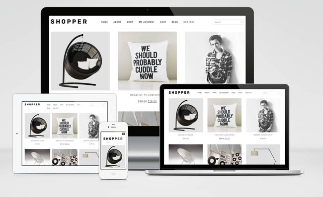 Shopper : Free Responsive WooCommerce Theme with Minimalistic Style