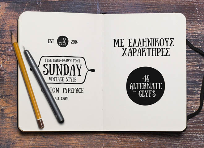 Sunday Hand Drawn Font