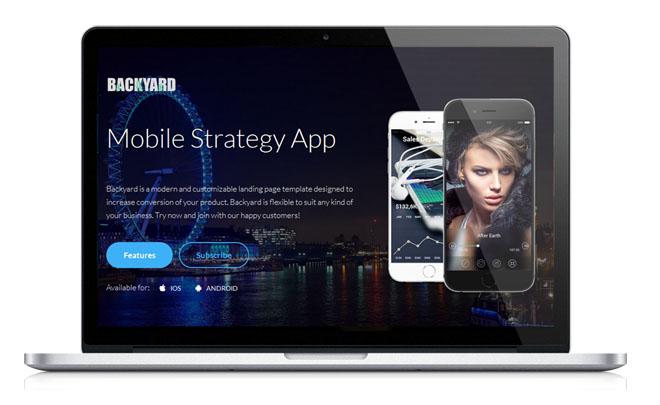 Backyard : Free Responsive Landing Page Template