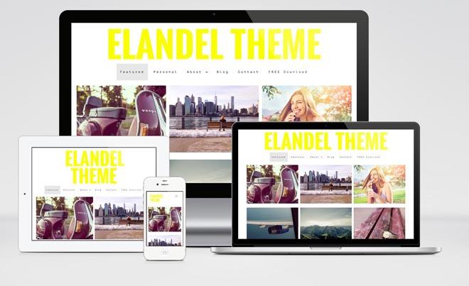 Elandel : Free Responsive Photography WordPress Theme