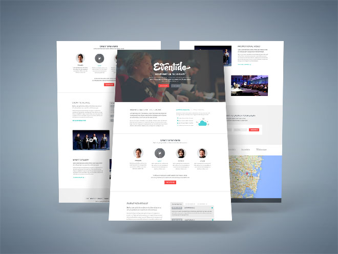 Eventide Event Landing Page PSD Template Free Download - Event landing page template free