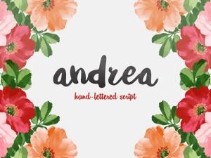 Andrea Script: Free Hand-drawn Font