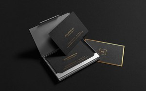 Free Black Stationery Mockup PSD