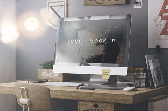 Free Web Display Mockup PSD