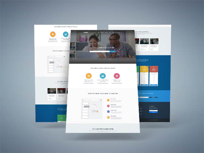Xeos : Free PSD Landing Page Template