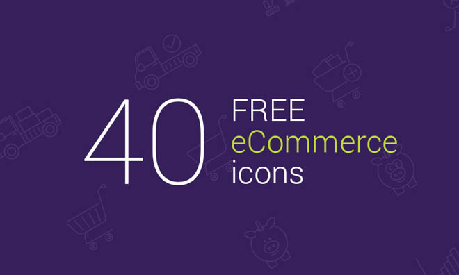 40 Free eCommerce Vector Icons with Outline Design