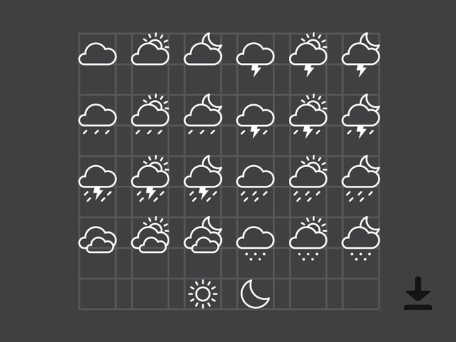 Free Vector Weather Icons (Ai)