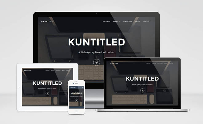 Kuntitled – Free Bootstrap Theme for Web Agency