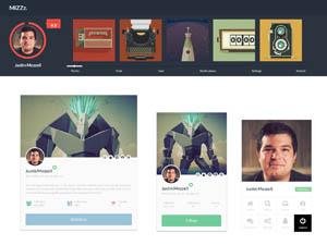 7 Free Profile UI Kit PSD