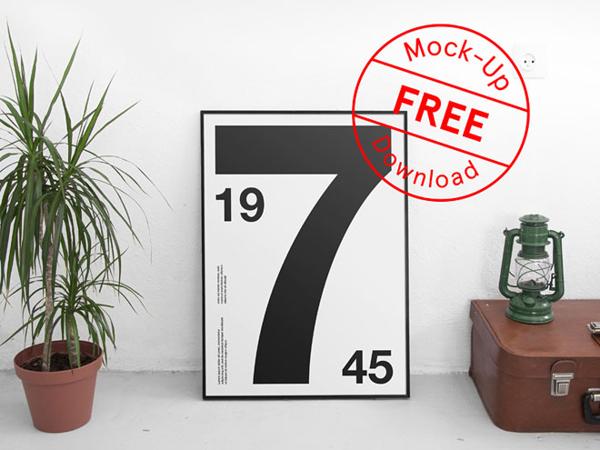 Free Realistic Poster Psd Mockup